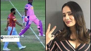 IPL 2019: Stuart Binny Humourously Avoids Getting Mankaded During KXIP v RR, Mayanti Langer Cannot Stop Laughing | WATCH VIDEO