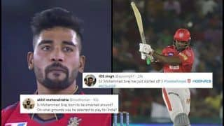 IPL 2019: Mohammed Siraj Gets TROLLED After Chris Gayle Picks 24 Runs Off His Over During KXIP v RCB in Mohali | SEE POSTS