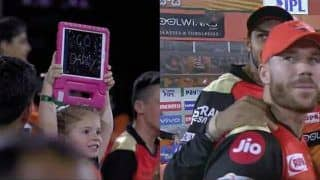 IPL 2019: David Warner's Daughter Cheering For Daddy During SRH v CSK at Rajiv Gandhi International Stadium is Best Thing on Internet Today | WATCH VIDEO