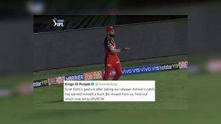 IPL 2019: Kings XI Punjab TROLLS Virat Kohli's Gesture After Ravichandran Ashwin's Catch, Wins Him Strange 'Stuart Broad' Award | SEE POST