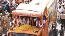 Amit Shah Holds Massive Road Show in Tumkur on Last Day of Campaigning