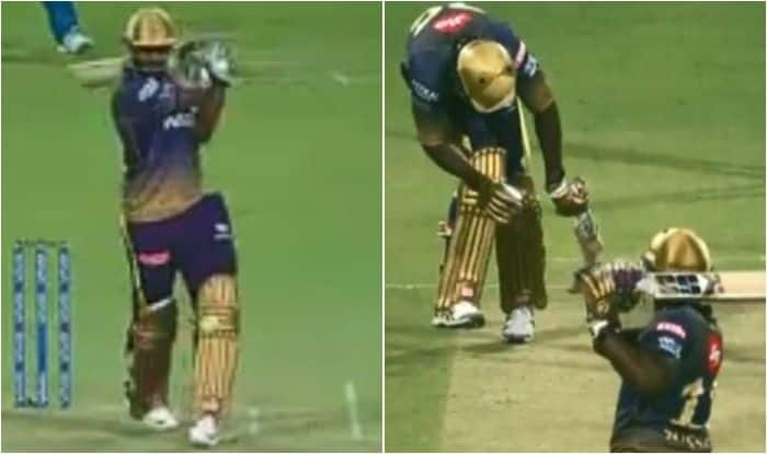 IPL 2019: Andre Russell Almost Knockout Carlos Brathwaite During Match 26 Between Kolkata Knight Riders And Delhi Capitals | WATCH VIDEO