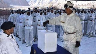 Indian Army Personnel at Siachen Cast Their Votes in First Phase of LS Polls