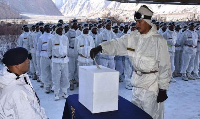 Indian Army personnel deployed at Jammu and Kashmir's Siachen