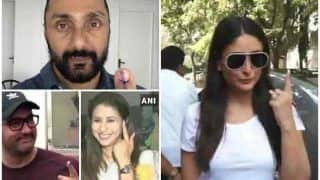 बॉलीवुड में मना चुनाव पर्वः शूटिंग छोड़ वोट डालने आए राहुल बोस, आमिर-अमिताभ और करीना ने किया मतदान
