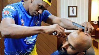 ब्रावो ने शुरू किया हेयर स्टाइलिंग का काम, चेन्नई के खिलाड़ी को दिया न्यू लुक