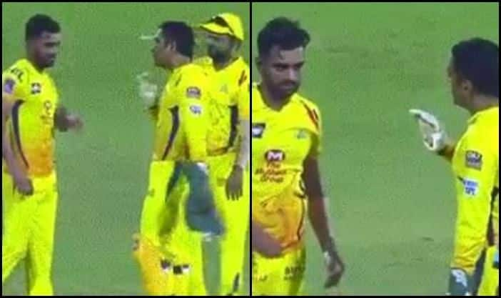 CSK's MS Dhoni Loses Calm-picture credits-Twitter