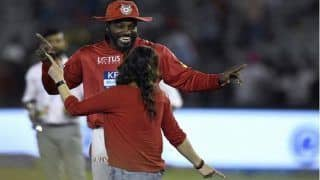 IPL 2019: Chris Gayle Receives Traditional Welcome Ahead of KXIP vs RR Match, Performs Bhangra With Fans in Mohali | WATCH VIDEO