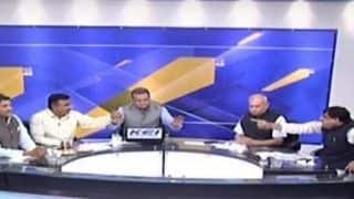 Congress Leader Throws Water at BJP Leader on Live TV Debate After Being Called Traitor