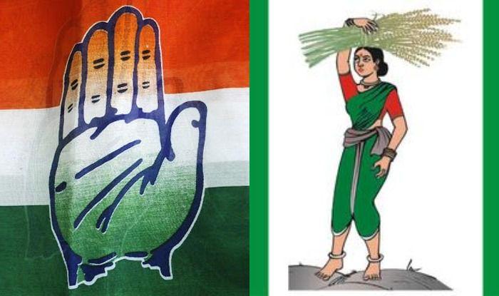 Congress and Janata Dal (Secular) symbols