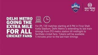 IPL 2019: IPL Match at Kotla Stadium: Last Metro to Leave ITO at Midnight