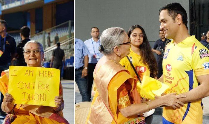 Dhoni's heartfelt gesture towards an aged fan