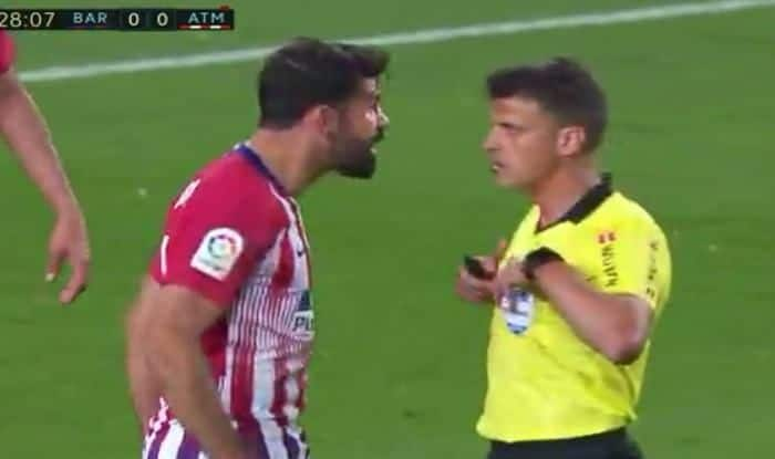 Diego Costa loses calm in the match against barcelona_picture credits-Twitter