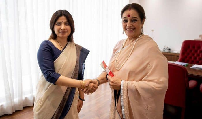 Dimple Yadav with Poonam Sinha