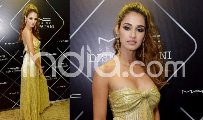Disha Patani Looks Drop-dead Gorgeous in a Yellow Metallic Tube Gown, See Pictures