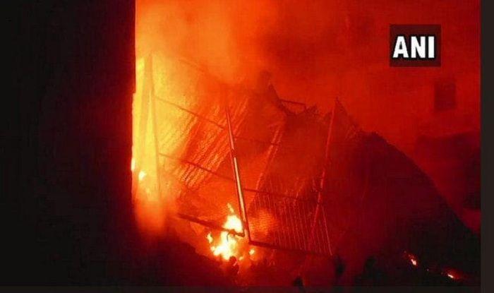 Massive Fire at Plastic Factory in Delhi's Narela, 22 Fire Tenders at Spot