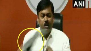 VIDEO: बीजेपी प्रवक्ता जीवीएल नरसिम्हा राव पर प्रेस कॉन्फ्रेंस में फेंका गया जूता, बताई कांग्रेस की हरकत