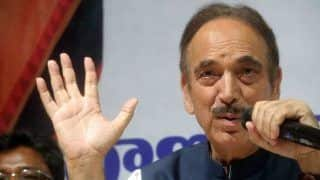 Ex-J&K CM Ghulam Nabi Azad Stopped at Srinagar Airport, Sent Back to Delhi