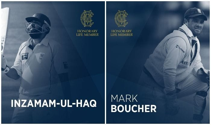 Inzamam-ul-Haq, Mark Boucher Elected as MCC Honorary Life Members