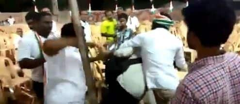 Congress Workers Thrash Photojournalists For Clicking Pictures of Empty Chairs at Rally