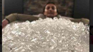 बाथटब में बर्फ के बीच इस अभिनेत्री ने करवाया फोटोशूट,देखें Video
