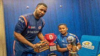 IPL 2019: Kieron Pollard And His Son Kaiden Dedicate Win Over Kings XI Punjab to Mommy Jenna | WATCH VIDEO