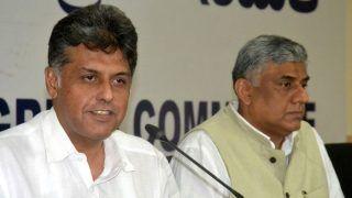 Manish Tewari Slams BJP For Attacking Rahul Gandhi With Expletives