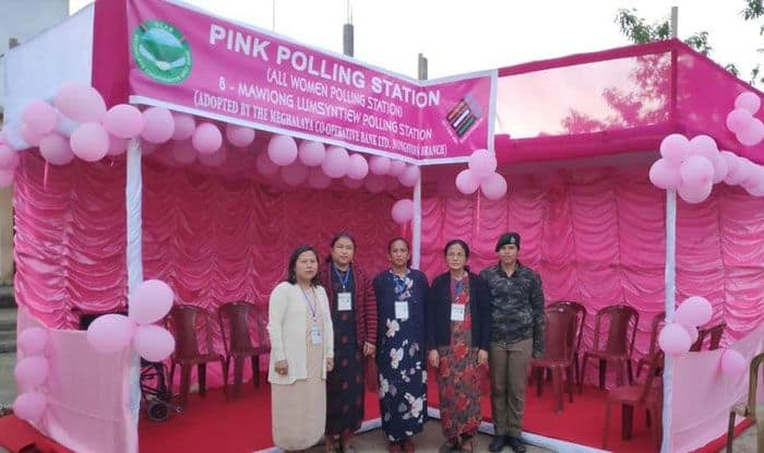 An 'All Women' polling station in Meghalaya