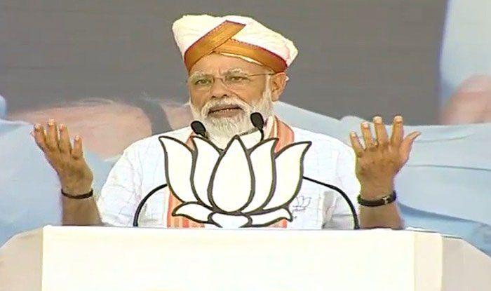 Prime Minister Narendra Modi in Latur