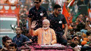 PM Modi Holds Mega Roadshow in Varanasi Before Witnessing Ganga Aarti