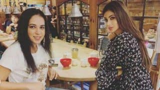 Mouni Roy Looks Gorgeous in Floral Black Dress as She Enjoys Sunday Lunch With Her Sister