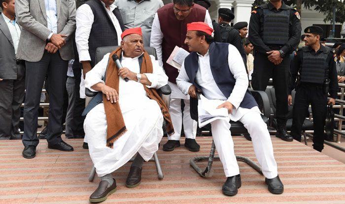 Mulayam Singh Yadav and Akhilesh Yadav