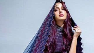 Nora Fatehi Looks Uber Hot as She Flaunts Her Morrocan Vibes in Purple And Blue Lehenga at Caftan 2019