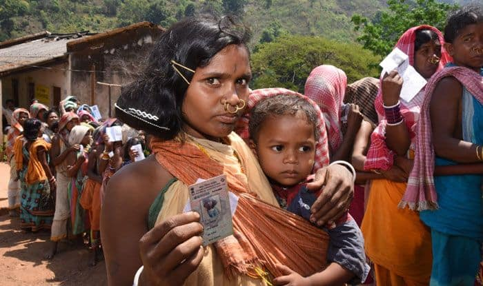 Polling at Bissam Cuttack, in Odisha's Rayagada district