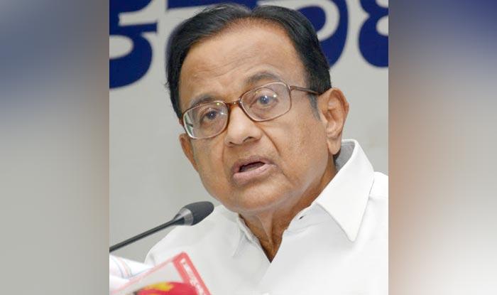 Senior Congress leader P Chidambaram