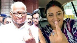Sharad Pawar, Uddhav Thackeray, Smriti Irani Cast Their Votes in Mumbai