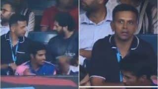 IPL: Rahul Dravid Comes Out to Support Hosts as Royal Challengers Bangalore Take on Rajasthan Royals in Chinnaswamy | WATCH VIDEO