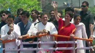 अमेठी में नामांकन से पहले राहुल गांधी का रोड शो, पूरे परिवार सहित मौजूद हैं बहन प्रियंका