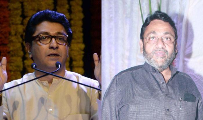 Raj Thackeray(L) and Nawab Malik(R)