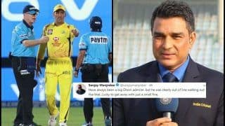 IPL 2019: Sanjay Manjrekar Says 'MS Dhoni Lucky to Get Away With 50 Per Cent Fine' During RR v CSK, Gets Trolled | SEE POSTS