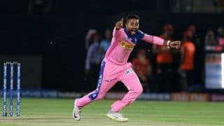 IPL: Shreyas Gopal Takes Hat-Trick, Removes Virat Kohli, AB de Villiers And Marcus Stoinis to Claim 2nd Hat-Trick of Season During RCB vs RR Match; Twitter Hails Rajasthan Spinner | WATCH VIDEO