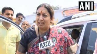 Smriti Irani Hits Out at Rahul Gandhi Over His Letter to People of Amethi