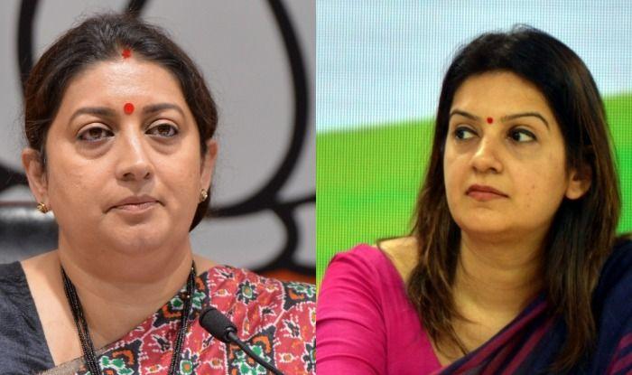 BJP's Smriti Irani and Congress' Priyanka Chaturvedi