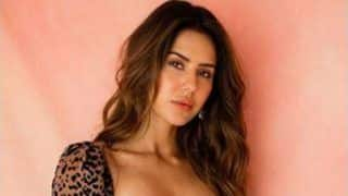 Punjabi Sizzler Sonam Bajwa Looks Hot in Leopard Print Short Dress And Fans Are Loving Her OOTD