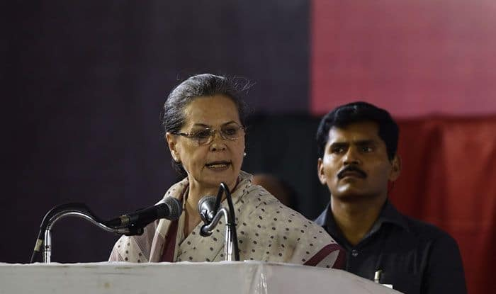 Congress leader and UPA chairperson Sonia Gandhi