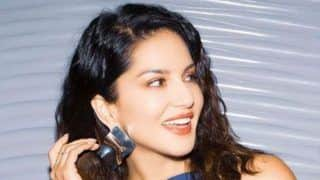 Sunny Leone Looks Sizzling Hot in Blue Top And Lilac Skirt as She Gets Into Her 'Weekend Vibes'