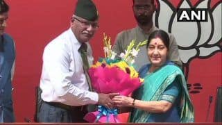 Former Vice Chief of Army Staff Sarath Chand Joins BJP in Presence of Sushma Swaraj