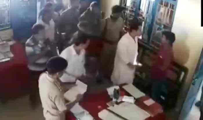कांग्रेस के इस 'महाराज' ने थाने में एक शख्स को क्यों मारा थप्पड़, देखें Video
