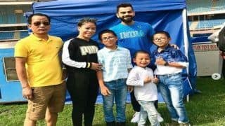 MC Mary Kom And Family Meet Virat Kohli Ahead of Royal Challengers Bangalore vs Delhi Capitals Clash | SEE PICS