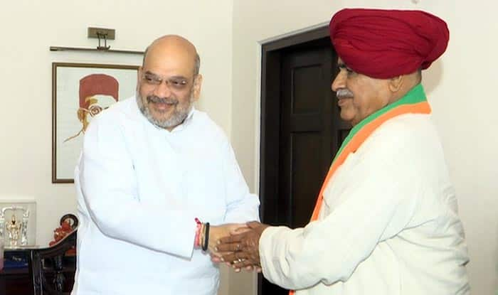 Gujjar Leader Kirori Singh Bainsla And Son Vijay Joins BJP